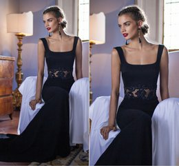 Wholesale 2015 Tarik Ediz Sheath Evening Dresses Straps neckline Sweep train Embroidery Custom made Elegant Prom Party gowns New collection Beads
