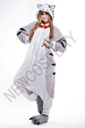 Wholesale 2016 Cosplay Cheese cat Pajama No Shoes Pajamas Hooded Conjoined Sleepwear Costumes Adult Unisex Onesie Soft Sleepwear CC52