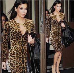 Discount Cheap Long Sleeve Leopard Dress - 2017 Cheap Long Sleeve ...
