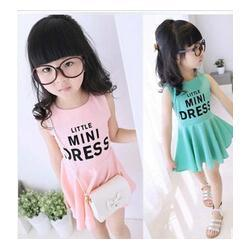 Wholesale New Fashion Summer Cotton Girl Dress Korean Causual Kids Clothes Sets Children Clothing