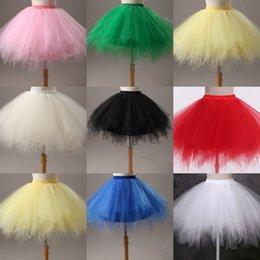 Wholesale 2016 New In Stock Short Women Dress Soft Gauze Cute Bouffant Tutu Skirt For Party Cheap Bust Skirts White Pink Purple Bridesmaid Dress