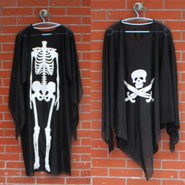 Wholesale Child Adult Halloween Costume skeleton ghost ghost pirate clothing dance clothing apparel clothing ghost skeleton ribs skeleton ghost clothe