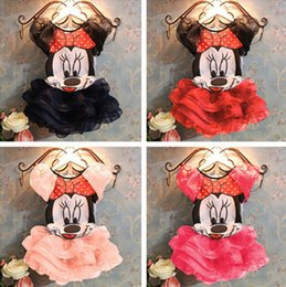 Wholesale 2014 Summer New Children Girl s PC Sets Skirt Suit Minnie Mouse baby Clothing sets princess skirt girls clothes