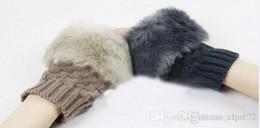 Wholesale 2014 winter womens chaddar cute plush gloves stripe knitting wool warm gloves