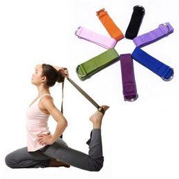 Wholesale 100 Cotton Yoga belt cm for women Yoga sporting yoga straps Strap D Ring Pilates Belt Figure Waist Leg Fitness Exercise Gym Yoga Stripes