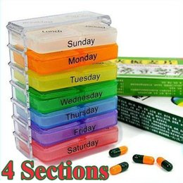 Wholesale Colorful Slots Weekly Healthy Tablet Pill Medicine Boxes Storage Organizer Container Case