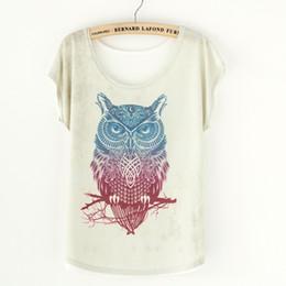 Wholesale Tops Retro Vintage Cute Owl Print Women T Shirts Tees Tops Blusas Femininas Fashion Summer Style Harajuku Plus Size TShirts