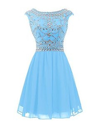 Discount Blue Semi Formal Dresses Juniors | 2017 Blue Semi Formal ...
