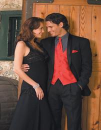 Discount Black Suit Coat Red Tie   2017 Black Suit Coat Red Tie on