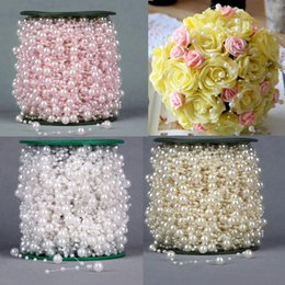 Wholesale New Meters Fishing Line Artificial Pearls Beads Chain Garland Flowers Wedding Party Decoration Products Supply