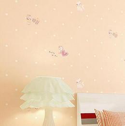 Modern Simple Dolls House Cute Cartoon Motif Non Woven Wallpaper Textured Effect Home Decor