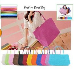 Discount deep shop 2015 Fashion Candy Straw Beach Bag Summer Weave Woven Women Shoulder bags Handbags Ladies Top-handle Tote Shopping Travel bags