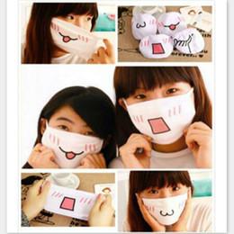 Discount cute anti dust cap Wholesale-Cute Fashion&Trendy Anime Kaomoji Anti-Dust Face Mask Mouth-muffle Kawaii Anti-Dust Masks