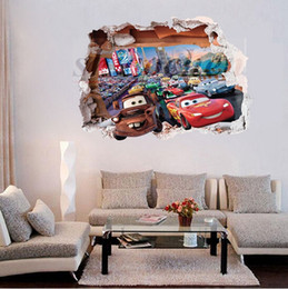 Mcqueen Car Wall Stickers PVC Mural DIY Backdrop Bedroom Living Room Poster  Sofa TV Wallpapers Cars Wall Stickers Home Wall Decor A476 500