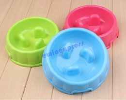 2017 plastic dog bowls wholesale New hot sale good quality Go Slow Anti-Gulping Dog Bowl Preventing Indigestion Vomiting Bloating Free Shipping cheap plastic dog bowls wholesale