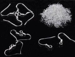 Wholesale 100pcs Silver Plated Wire Earrings Hooks DIY Findings Bulks Earrings Jewelry Women Drop Free