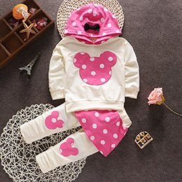 Wholesale 2015 baby girls casual Minnie mouse christmas outfits clothing set t shirt pants kids clothes suit girl s Outwear for baby