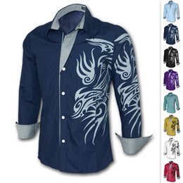 Wholesale 2014 Freeshipping New Stylish Leisure Dress Shirts Personality Slim Fit Casual Long Sleeve Shirt Colors M XL