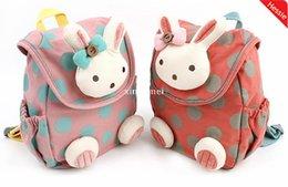 L'arrivée de nouveaux 2015 bébé Kid Harnais de sécurité Anti dos Strap Keeper Sac à dos école de filles conception de lapin Livraison gratuite perdu