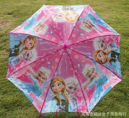 Wholesale 2015 Children Rain Gear Lovely Princess Froze Elsa Anna Cartoon Kids Things Colorful Snow Queen Sun Proof Child Umbrellas Colors L0862