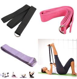 Wholesale Promotion Retail Cotton Yoga Strap Stretch Belt Gym Exercise Webbing Fitness Workout Rope Betls Straps Adjustable Waist Leg Fitness Belt