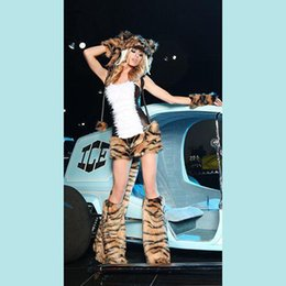 Wholesale Sexy Tiger Design Tight Suit Halloween Party Performance Cosplay Anime Costume DS Clothing BLS3125