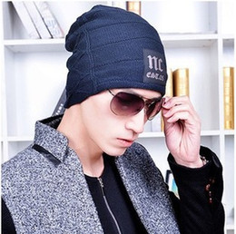 Wholesale Warm Knitted Wool Beanies Cap Autumn Winter Unisex Men Women Outdoor Sports Hats Label Word NC Hat Caps