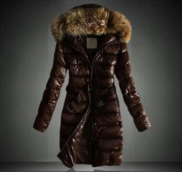 Wholesale Europe Station Ladies Winter Jacket Fur Hoodies Down Coats Women Fashion Long Casual Parka Outdoor Jackets Black Woman Down Coat
