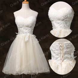 Wholesale Grace Karin Women s Strapless Floral Ballgown With Lace Bridesmaid Cocktail Prom Homecoming Mini Dress CL6134
