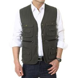 Hot Selling Men Vest Cotton Outdoor Waistcoat Multifunctional Photography Director Men Jacket Coat Asian/Tag Size XL-3XL WM0039 smileseller