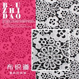 Wholesale free shipingMilk silk cutout water soluble lace cloth clothes fabric one piece dress top outerwear sleeves