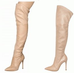 Purple Suede Thigh High Boots Online | Purple Suede Thigh High ...
