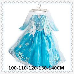 Wholesale Girls Dresses girl long sleeves Fall dress girl party dress anna princess costume baby girls elsa dress girl dress DHL