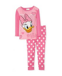 Wholesale DHL Freeship Minnie mouse pajamas girls boys mouse pyjamas children s Donald Duck cotton sleepwear T shirts long pants sets
