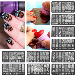 Wholesale New Arrivals Nail Stencil Hollow Art Sticker Decals DIY Irregular Pattern Stainless Steel Fashion ID5