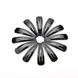 Wholesale Hot Sale Kids Hair Snap Clips accessories for women Girls Black hairgrips Barrettes Head hairpins Jewelry