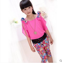 Wholesale Children s clothes girls children new summer wear han edition sports leisure suit children clothes big child dress