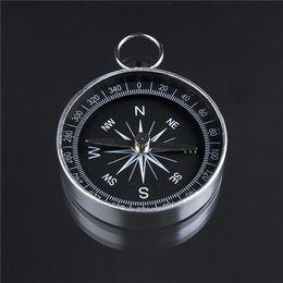 1Pc ligero de aluminio Camping Traval Mini Compass Senderismo Navegación más reciente