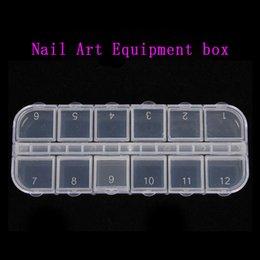 Wholesale Cell Empty Plastic Storage Beads Rhinestones Box Case False Nail Art Set Tips