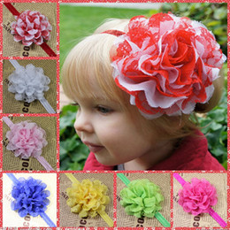 Wholesale Lace Hair Accessories For Infant Child Big Flowers Princess Babies Girl Hair Band Headband Baby s Head Band Kids Hairwear Beaded