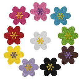 Wholesale Fashion delicacy Flowers embroidery patch applique iron Ironing stickers Cloth paste clothing accessories Multicolor decoration