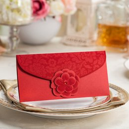 Wholesale w048 upscale Gift envelopes Chinese bronzing gilt red envelope packets chinese post first welcome to choose