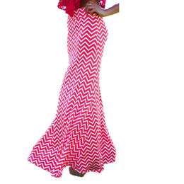 Red Striped Maxi Skirt Online | Red Striped Maxi Skirt for Sale