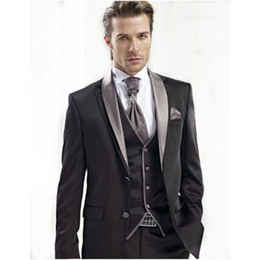 Wholesale Men Suits Shawl Lapel Groom Suit Wedding For Men Wedding Tuxedos Suits Two Button Best Selling