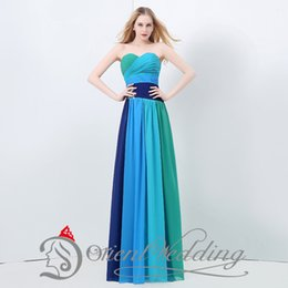 Wholesale 2015 Unique Design New Sweetheart Strapless Discount Ruffle Prom Dresses In Stock Actual Image Contrast Color Evening Dress Lace Up Back