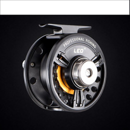 Livraison gratuite FB75 métal Fly Reels Fly Reels roue de radeau avant le jeu de puissance de l'évent Round Fishing Tackle - D2