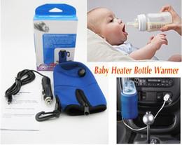 Nuevo calentador universal del calentador del coche Niños del bebé empaquetan la taza de la botella de agua de la leche del alimento DC 12V mini programador linear de la temperatura