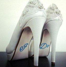 Wholesale Shoes Sticker Bridal Accessories I DO Blue Pink Color B13