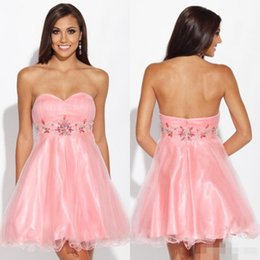 Discount Pink Homecoming Dresses Under 100 - 2017 Pink Homecoming ...