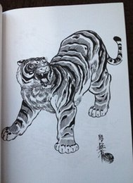 Wholesale tiger hawk snake Painting Tattoo Books by Horimouja Jack Mosher A4 size Vol tigers hawks snakes Design Sketch Flash Tattoo Book